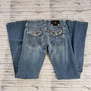 Miss Me Jeans 28/31 Boot Cut Medium Wash Bling